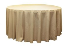 120 inch round champagne table linen