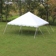 20' X 20' (400 square feet) Pole Tent on Grass