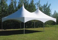 20' X 40' (800 square feet) High Peak Frame Tent (Walls can be added, but are not included)  with Gutter