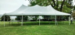 20' X 40' (800 Square Feet) Pole Tent on grass (Walls can be added, but are not included)