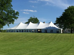 40' X 120' (4,800 square feet) Pole Tent on grass