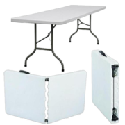 6' White Plastic Table