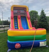 18ft Rainbow water slide 1.5 HP blower