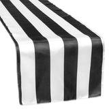 Black & White Stripe Satin Runner