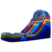 "20ft Water slide ""Big Red"" splash pool 1.5HP blower"