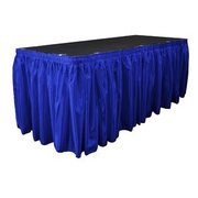 Royal Blue Satin Skirting 14' x 29""