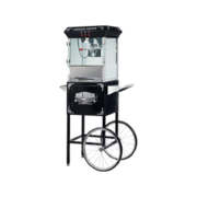 Popcorn machine with cart with 50 servings