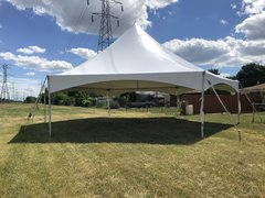 40' (1,200 square feet) High Peak Hexagon Tent (Walls can be added, but are not included)