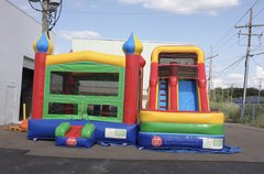 Bounce house castle water slide combo w/basketball hoop 1.0 & 1.5 HP blower