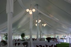 Tent Center Pole Globe Lighting