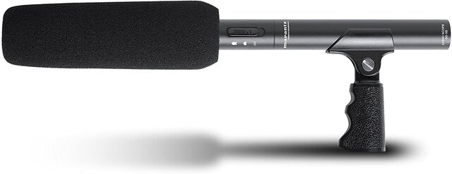 Professional Audio Scope SG-5B Battery/phantom-powered short shotgun microphone with XLR output