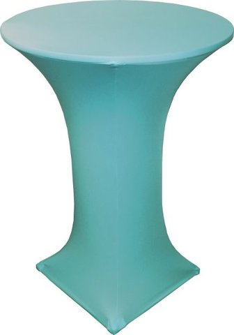 Spandex high top table cover (Tiffany Blue)