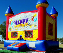 Bounce House - Happy Birthday