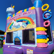 Unicorn Bounce House W/ Unicorn Banner