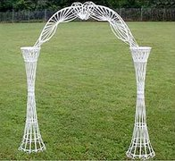 Decoration - Archway - White Wicker