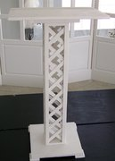 Decoration - Podium - White Lattice
