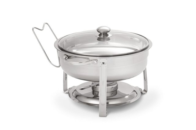 Silver Round Chafing Dish