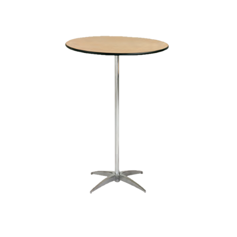 30in Round Cocktail Table (42in Tall) (Seats 2-4 People)
