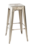 GUN METAL CAFE STOOL