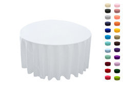 108in Round Tablecloth  Fits our 48 in Round Tables too the floor