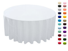 120in Round Tablecloth  Fits our 60in Round Tables too the floor