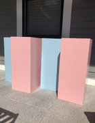Light Pink or Light Blue Square Plinth