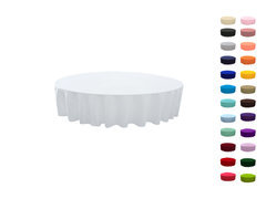 90in Round Polyester Tablecloth  Fits our 48in Round Kids Tables too the floor