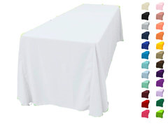 90x156 Polyester Tablecloth  Fits our 8ft Long Tables too the floor