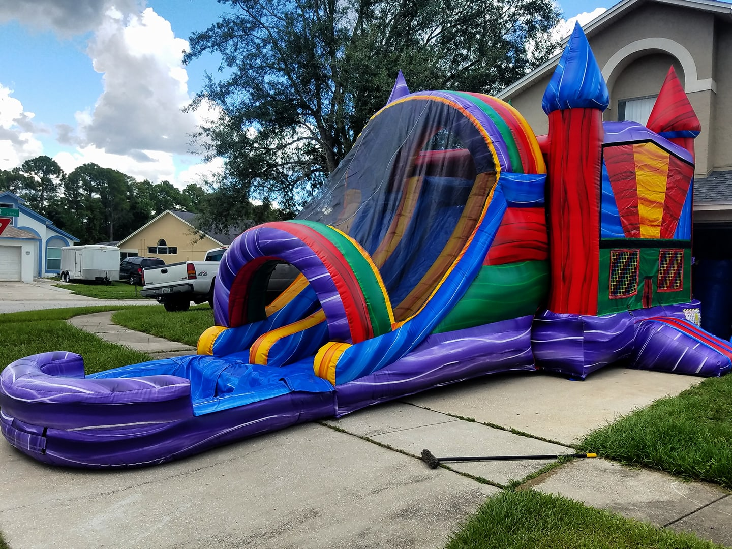 Water Slide Bounce House Combo Rentals in Orlando