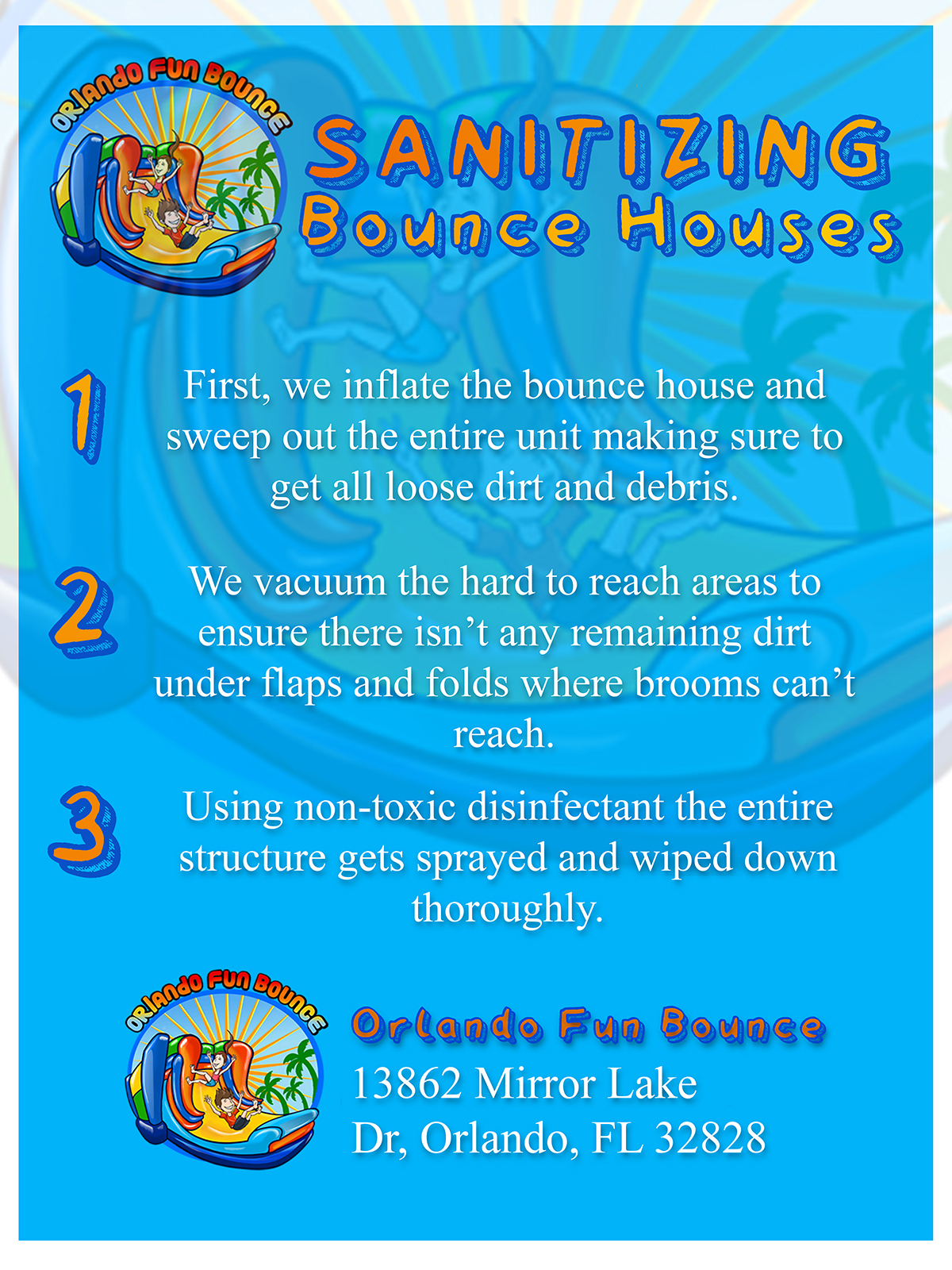 sanitizing bounce house rentals