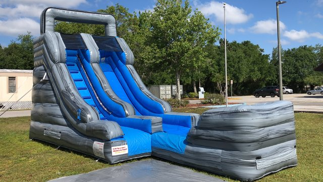 16ft Gray Marble Water Slide