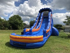 24ft Electric Blue Waterslide