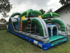 50ft Xtreme Tropical Obstacle Course Wet & Dry