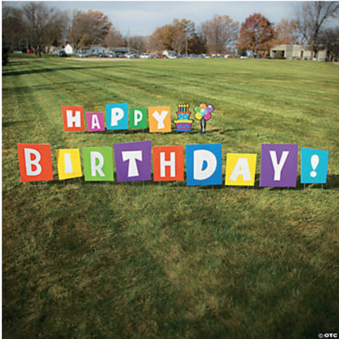 Happy Birthday Yard Sign Rental