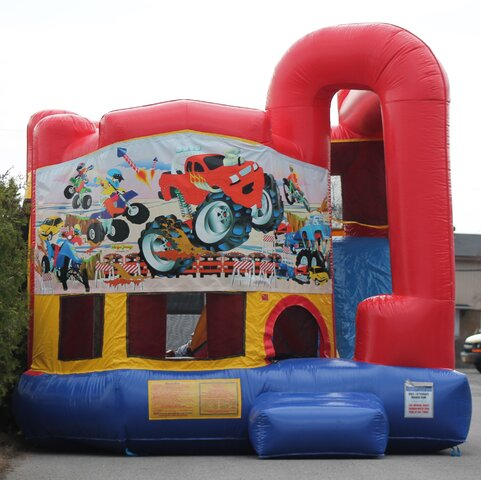 Monster Truck Bounce House Combo Rental