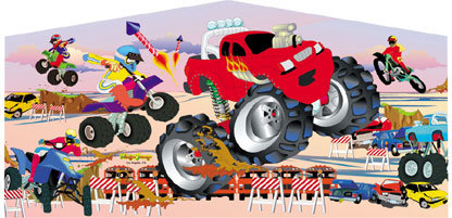 Monster Truck Art Panel