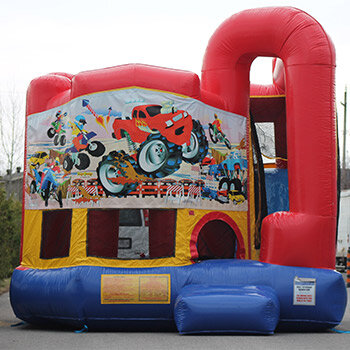 Monster Truck Bounce House with Slide Package