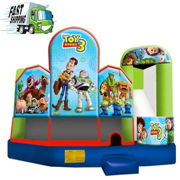 Toy Story Bounce House with Slide Combo