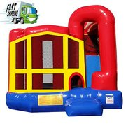 Classic Bounce House with Slide (Medium) ADD Theme Art Panel.