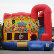 Happy Birthday Package  Bounce House with Slide Combo and Cotton Candy Machine