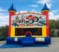 Monster Truck Large Bounce House Package Deal