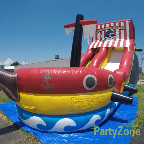 18ft Adventure Galley Water Slide Front of Slide View