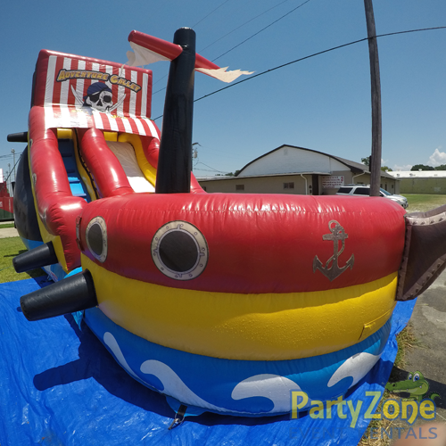 18ft Adventure Galley Water Slide Front Left View