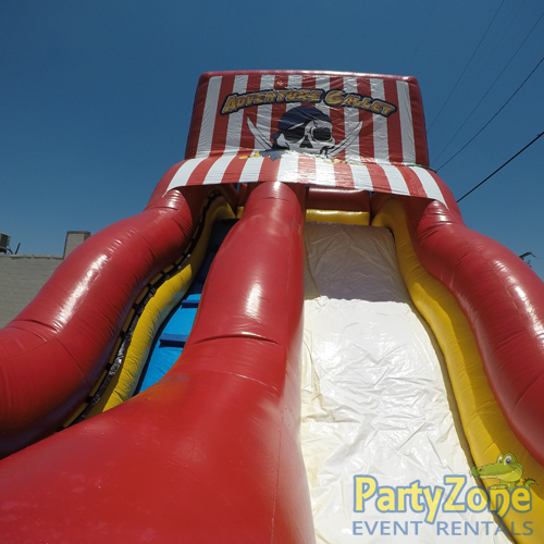 18ft Adventure Galley Water Slide Top View