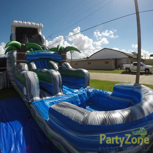 22ft Cascade Crush Water Slide Front Left View