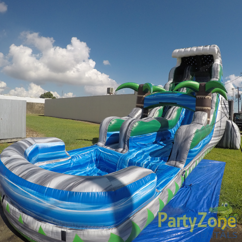 22ft Cascade Crush Water Slide Front Right View