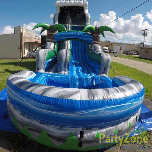 22ft Cascade Crush Water Slide Front View