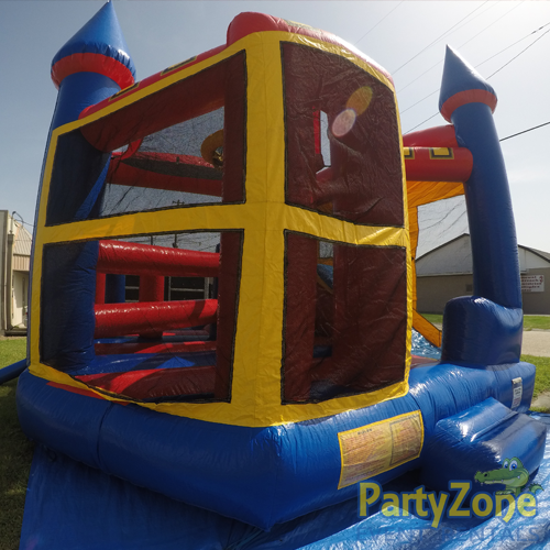 Castle 5n1 Combo Bounce House Rental Front Left View