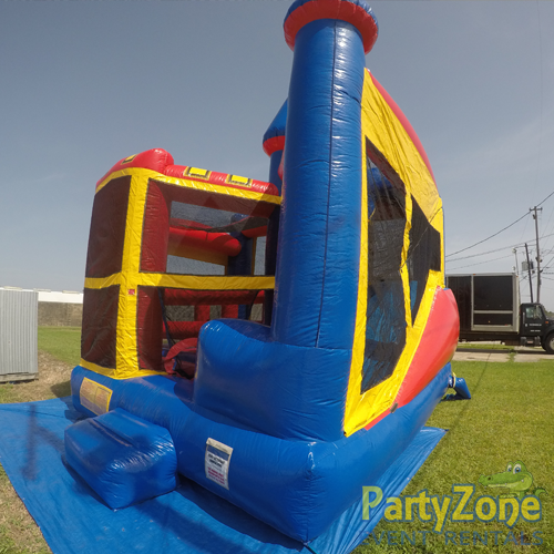 Castle 5n1 Combo Bounce House Rental Front Right View