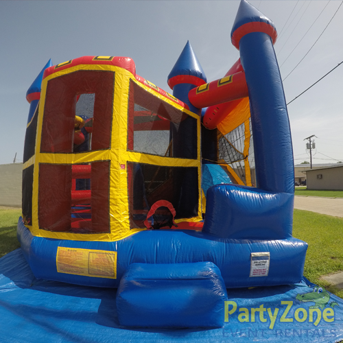 Castle 5n1 Combo Bounce House Rental Front View